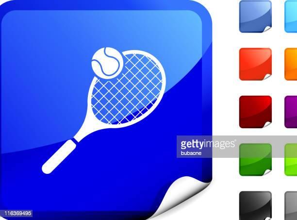 tennis racket and ball internet royalty free vector art