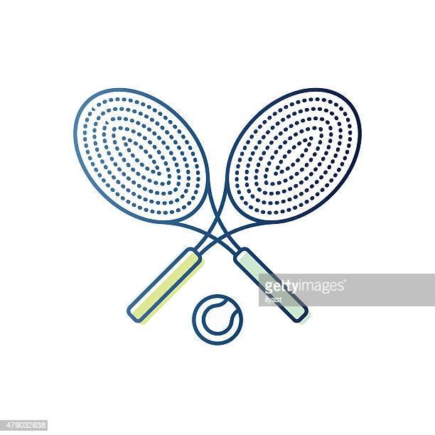 Tennis-Schläger und Ball-Symbol