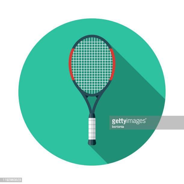 ilustraciones, imágenes clip art, dibujos animados e iconos de stock de icono de raqueta de tenis - raqueta de tenis