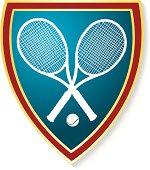 Tennis Racket Shield Graphic