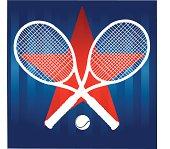 Tennis Racket Star Background