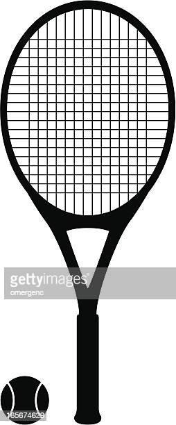 ilustraciones, imágenes clip art, dibujos animados e iconos de stock de raqueta de tenis - raqueta de tenis