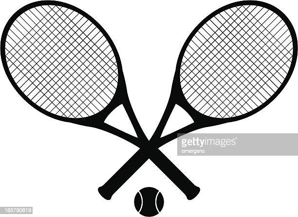 tennis rackets - tennis stock illustrations