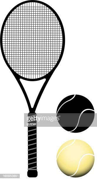 ilustraciones, imágenes clip art, dibujos animados e iconos de stock de juego de tenis - raqueta de tenis