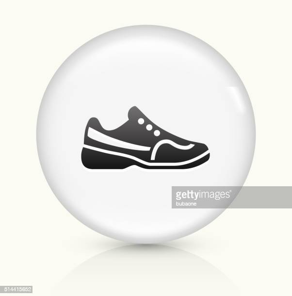 Tennis Shoes icon on white round vector button