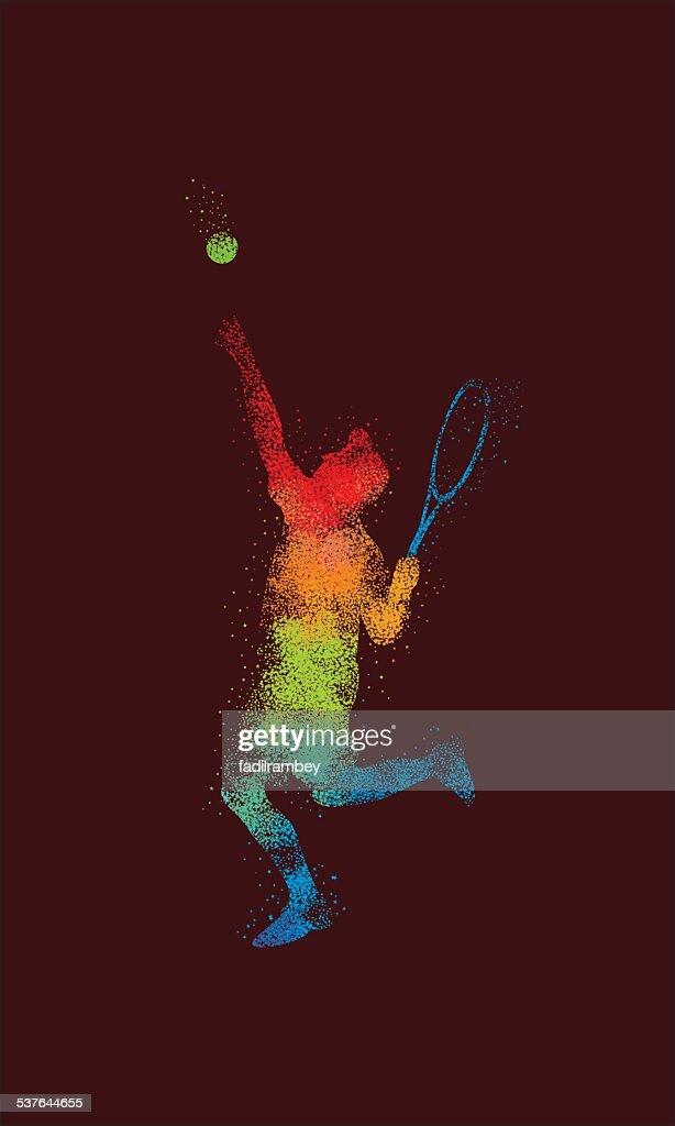 Tennis Smash Illustration Star