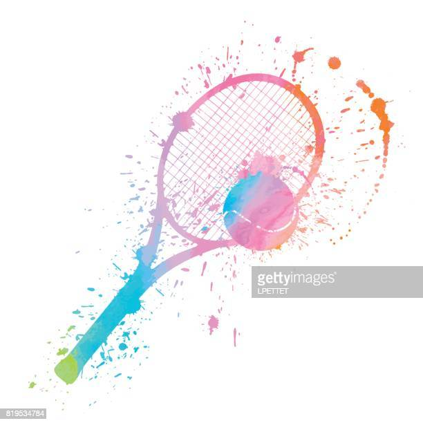 tennis splat - tennis stock illustrations