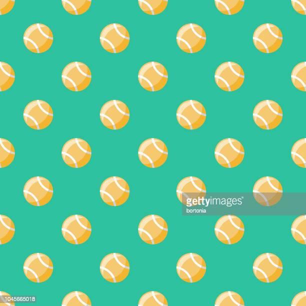 illustrazioni stock, clip art, cartoni animati e icone di tendenza di tennis sport seamless pattern - pallina da tennis