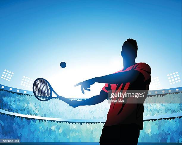 tennis swing - tennis stock illustrations