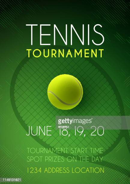 tennis tournament poster - tennis stock illustrations