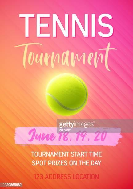 tennis tournament poster - tennis tournament stock illustrations