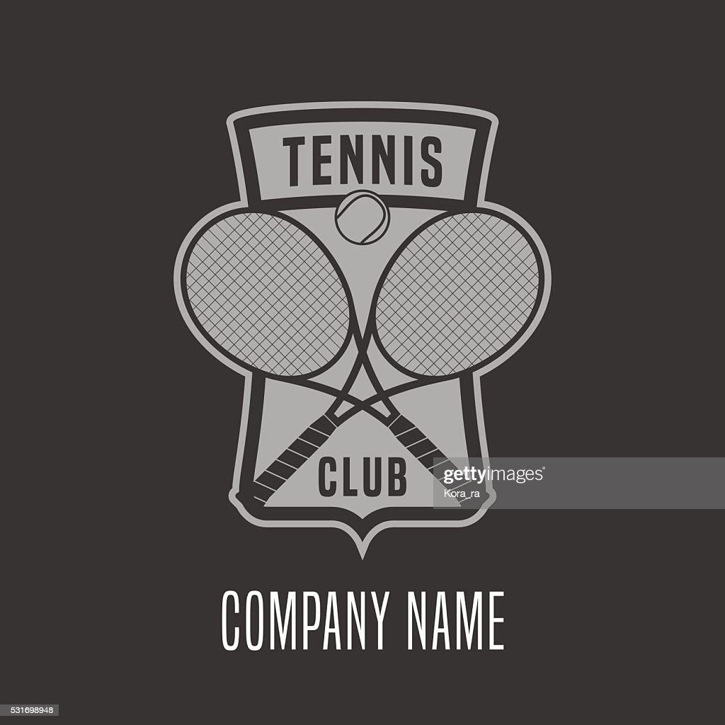 Tennis vector emblem