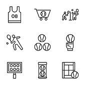Tennis Vector Icons Set