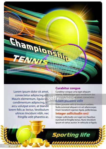 tennis - tennis tournament stock illustrations