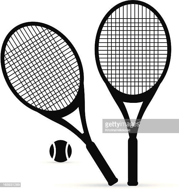 tennis - tennis racket stock illustrations