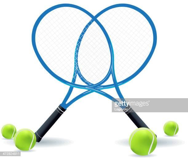 ilustraciones, imágenes clip art, dibujos animados e iconos de stock de canchas de tenis - raqueta de tenis
