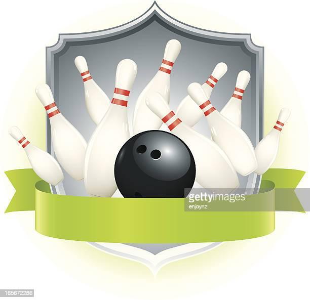 Tenpin bowling insignia
