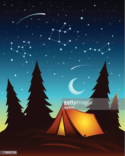 tent at night - tent stock illustrations, clip art, cartoons, & icons