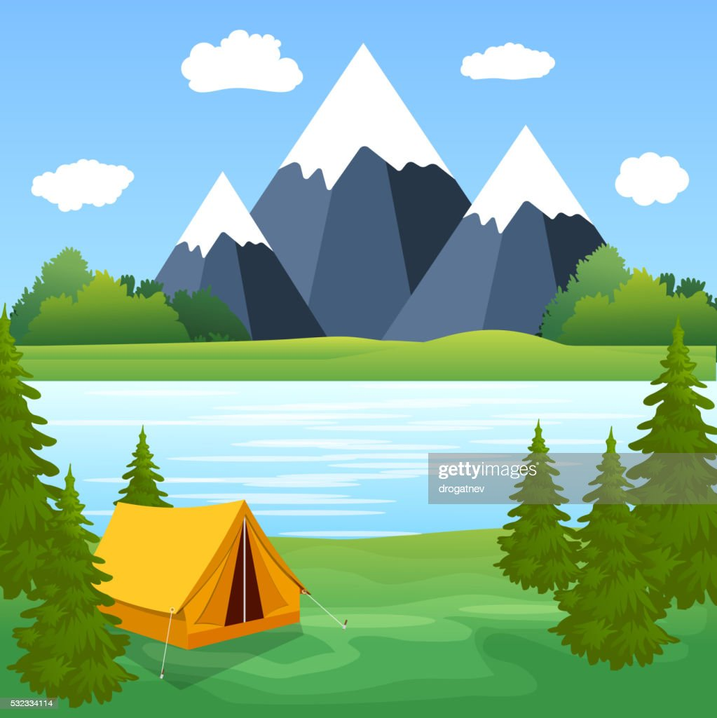 Tent Camping Tourist Forest Mountain Expedition