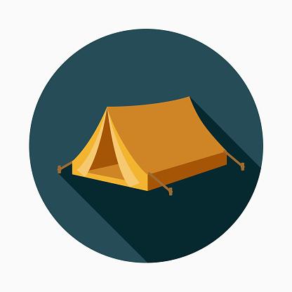 Tent Flat Design Western Icon - gettyimageskorea