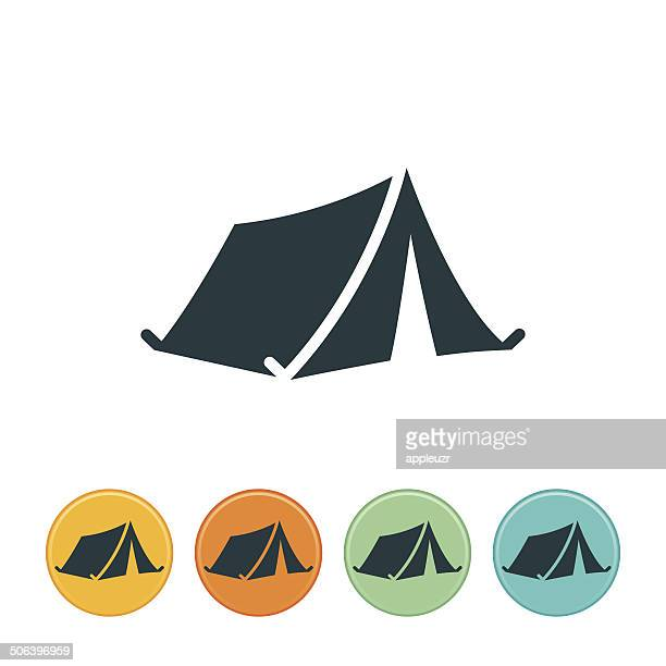 tent icon - tent stock illustrations, clip art, cartoons, & icons