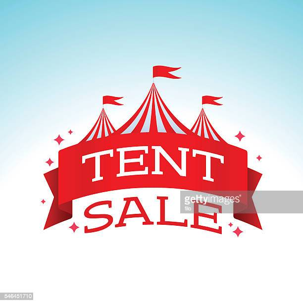 tent sale - tent stock illustrations, clip art, cartoons, & icons
