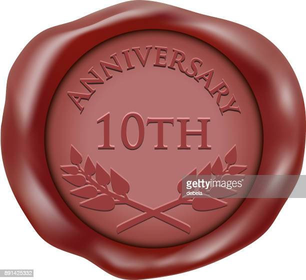 10 周年記念ワックス シール アイコン - 聖年点のイラスト素材/クリップアート素材/マンガ素材/アイコン素材