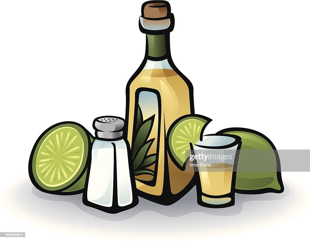 Tequila Bottle : stock illustration