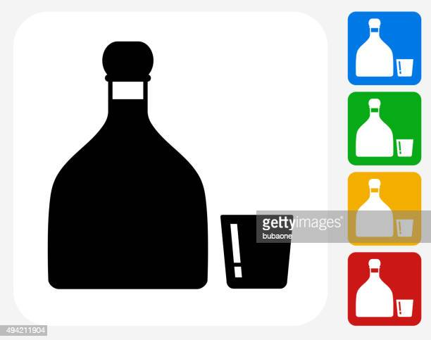ilustrações, clipart, desenhos animados e ícones de tequila plana ícone de design gráfico - tequila drink