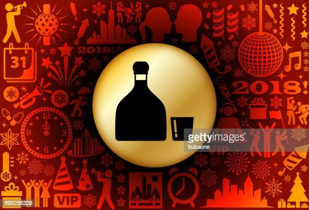 ilustrações, clipart, desenhos animados e ícones de padrão de fundo do tequila ano novo feriado - tequila drink