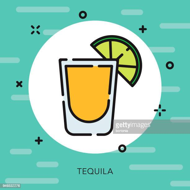 tequila open outline cinco de mayo icon - tequila drink stock illustrations, clip art, cartoons, & icons