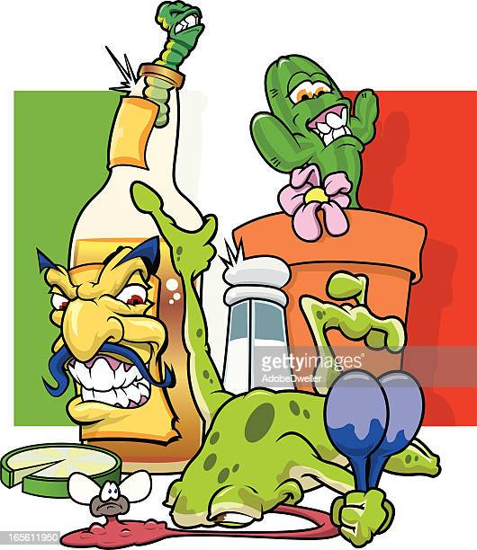 tequilla sunrise - tequila drink stock illustrations, clip art, cartoons, & icons