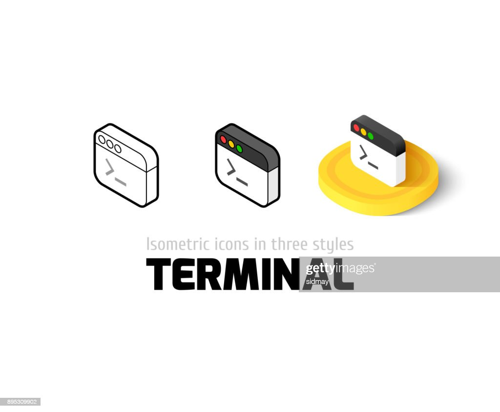 Terminal icon in different style