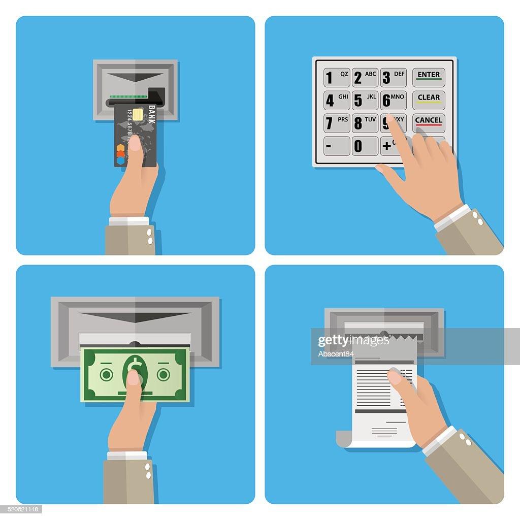 ATM terminal usage concept