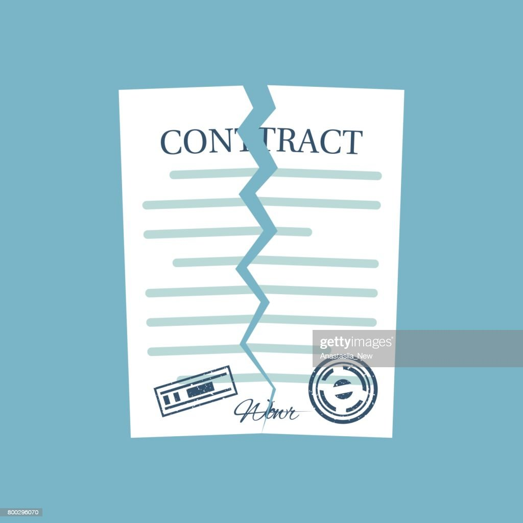 Terminated contract. Vector
