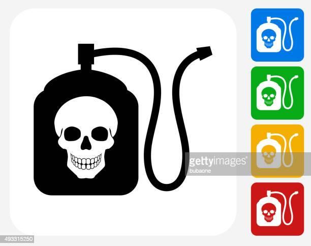 Terminator Chemicals Icon Flat Graphic Design