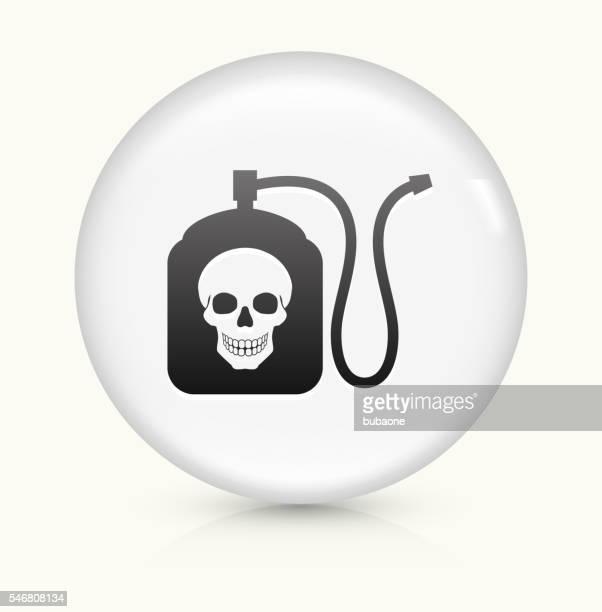 Terminator Chemicals icon on white round vector button