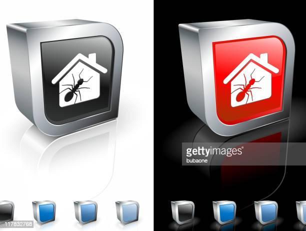 termite infestation 3d royalty free vector art - infestation stock illustrations, clip art, cartoons, & icons