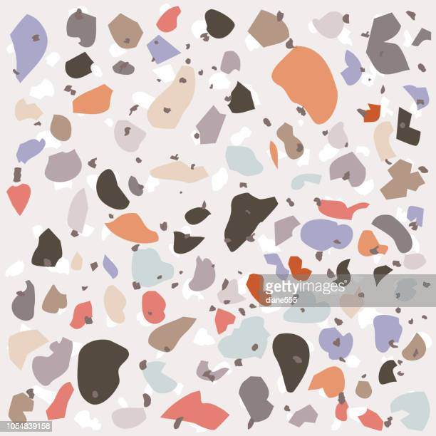terrazzo pattern background - marble rock stock illustrations, clip art, cartoons, & icons