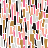 Terrazzo striped seamless pattern. Vector abstract background with strips.