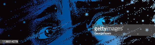 グリッチ技術で溶ける恐怖の瞳 - 恐れ点のイラスト素材/クリップアート素材/マンガ素材/アイコン素材