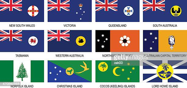 Territories Flags of Australia Icon Set