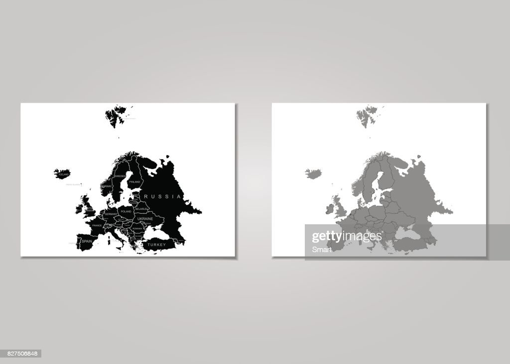 Territory of Europe. Vector Illustration