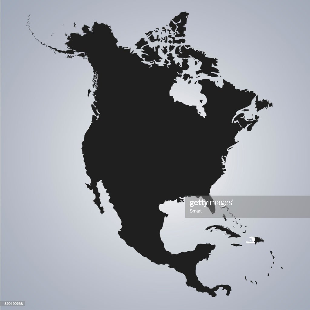Territory Of Haiti On North America Continent Map On The Grey