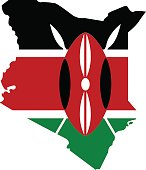 Territory of Kenya on a white background