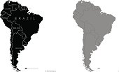 Territory of South America. Vector illustration