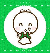 Teru teru bouzu : Rain Doll, Vector illustration