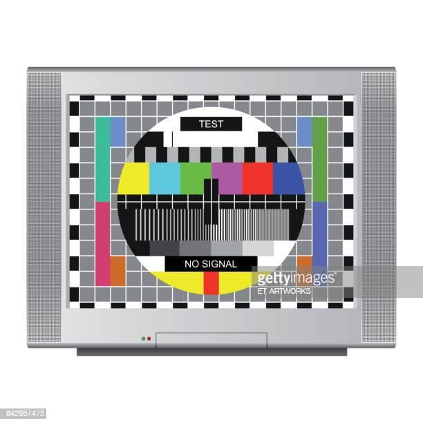 stockillustraties, clipart, cartoons en iconen met testbeeld - foutmelding