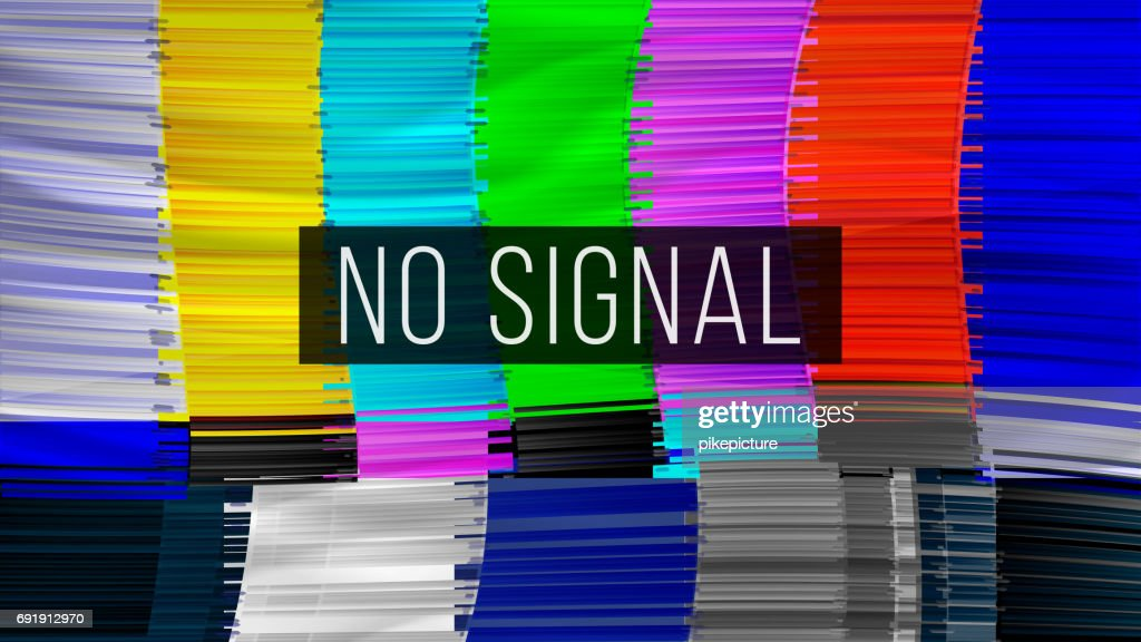 Test Color Glitch Screen. Digilal No Signal. Broken Transmission. Vector Illustration