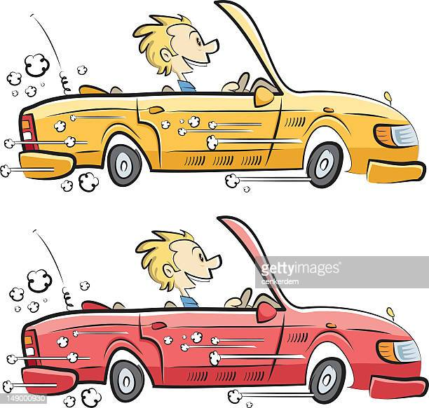 test drive for different colors - street racing stock illustrations, clip art, cartoons, & icons